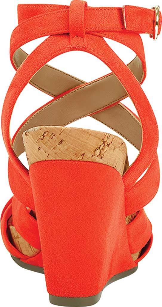 Women's Aerosoles Phoenix Strappy Wedge Sandal, Papaya Faux Suede/Microfiber, large, image 3