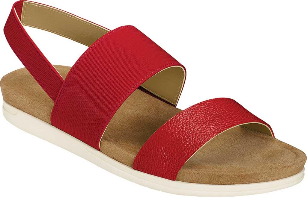 Women's Aerosoles Hoboken Slingback Sandal, Red Faux Leather/Elastic, large, image 1