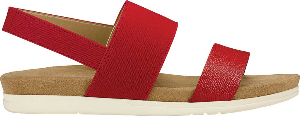 Women's Aerosoles Hoboken Slingback Sandal, Red Faux Leather/Elastic, large, image 2