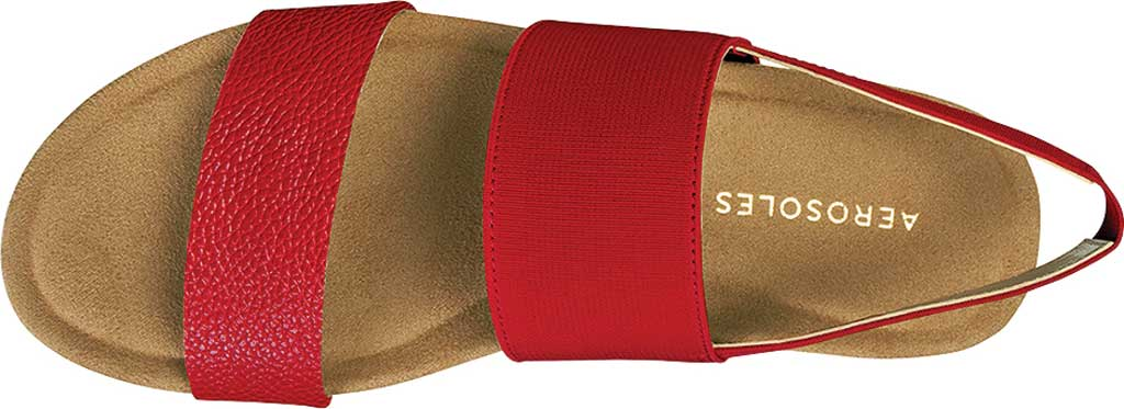 Women's Aerosoles Hoboken Slingback Sandal, Red Faux Leather/Elastic, large, image 4