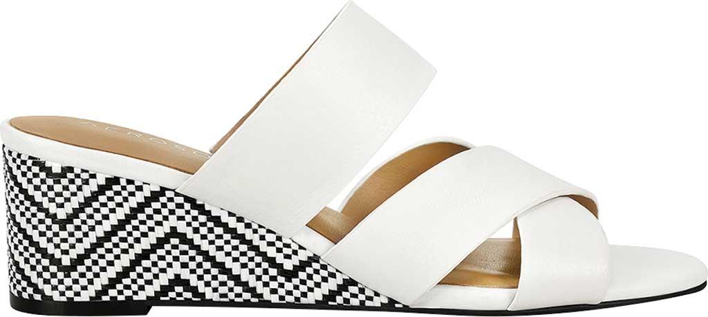 Women's Aerosoles Westfield Wedge Slide, White Combo Leather, large, image 2