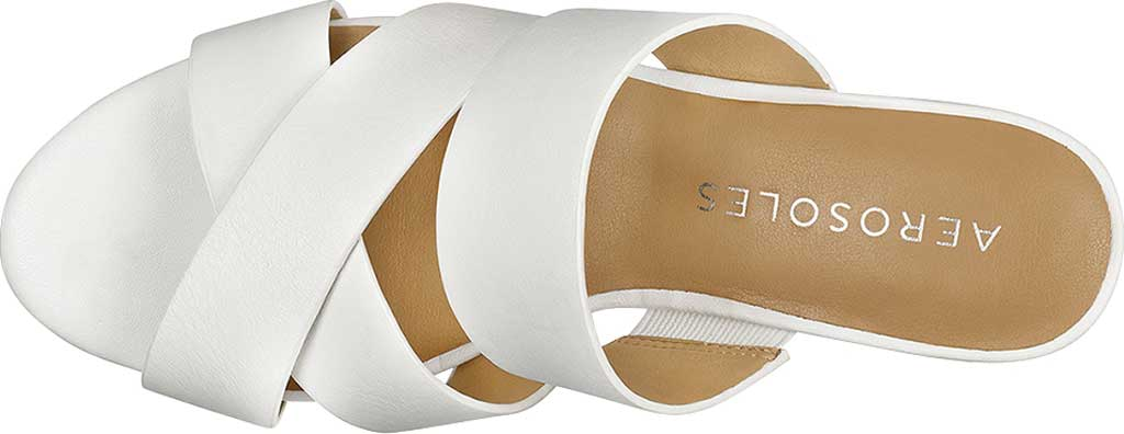 Women's Aerosoles Westfield Wedge Slide, White Combo Leather, large, image 4