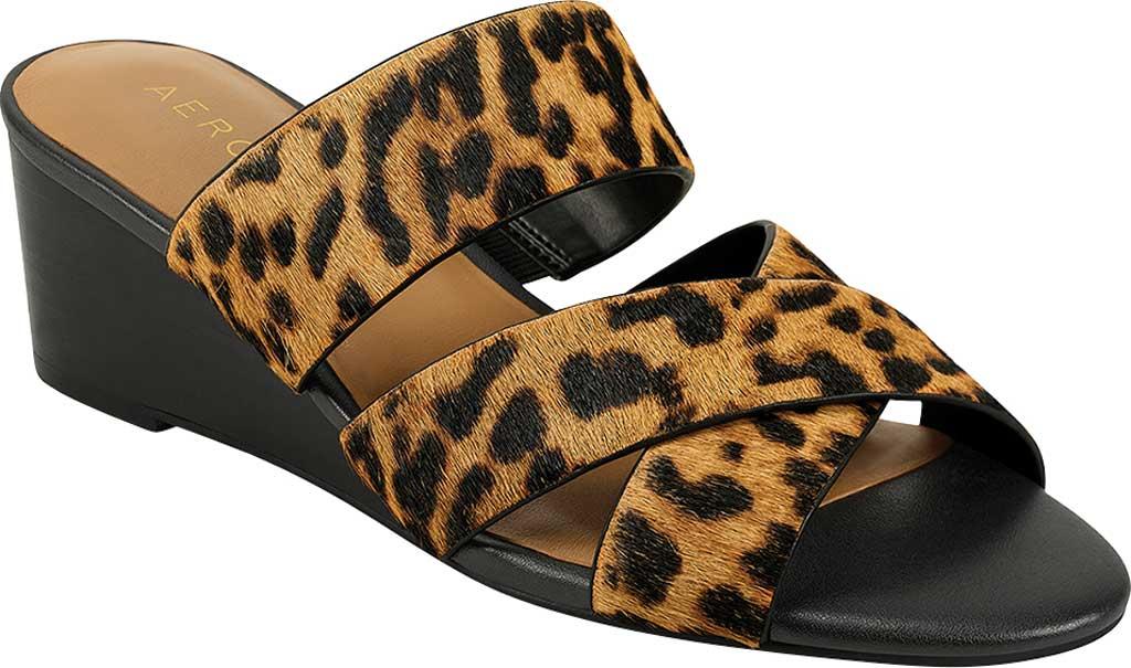 Women's Aerosoles Westfield Wedge Slide, Leopard Combo Cowhair Leather, large, image 1