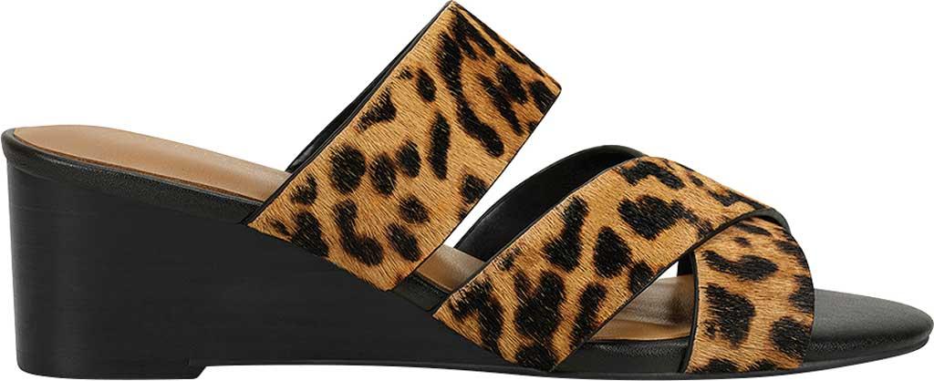 Women's Aerosoles Westfield Wedge Slide, Leopard Combo Cowhair Leather, large, image 2