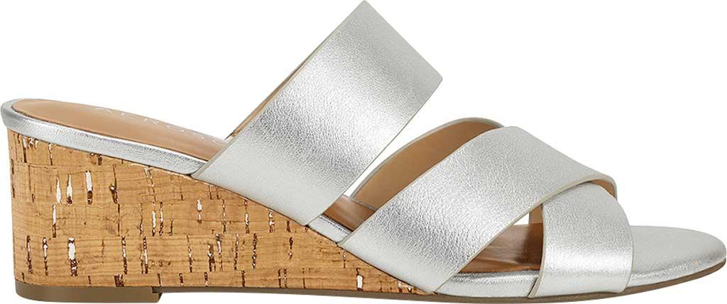 Women's Aerosoles Westfield Wedge Slide, Tin Metallic Leather, large, image 2