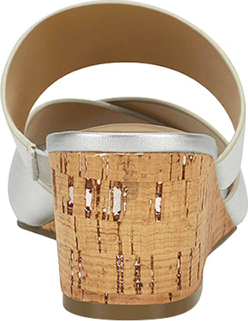 Women's Aerosoles Westfield Wedge Slide, Tin Metallic Leather, large, image 3