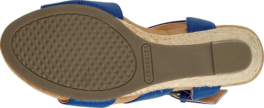 Women's Aerosoles Plainfield Espadrille Wedge Sandal, Navy Faux Leather, large, image 5