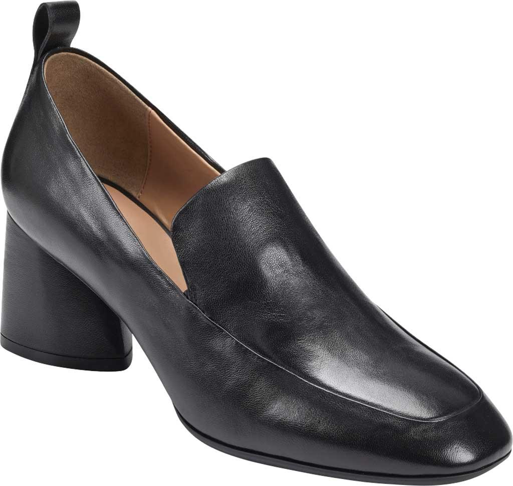 Women's Aerosoles Mariah Heeled Loafer, Black Leather, large, image 1