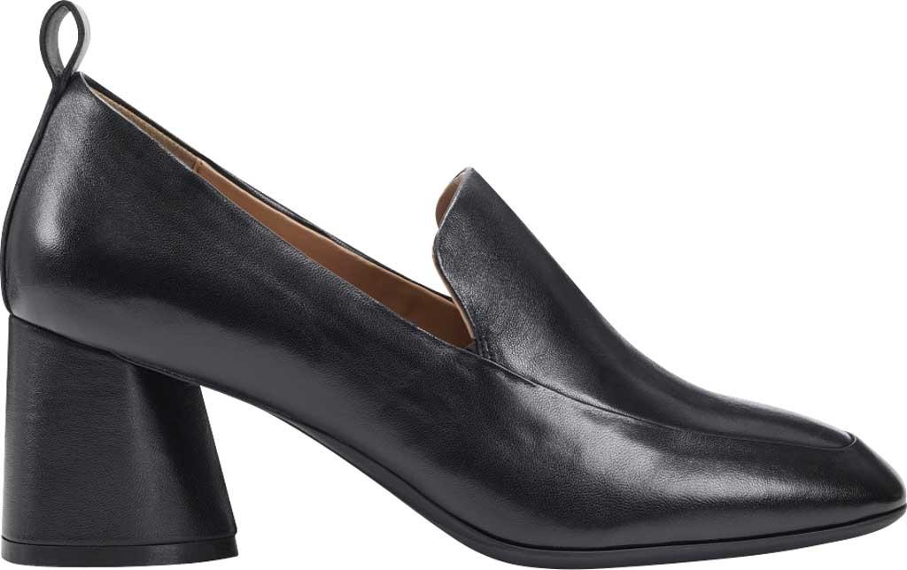 Women's Aerosoles Mariah Heeled Loafer, Black Leather, large, image 2