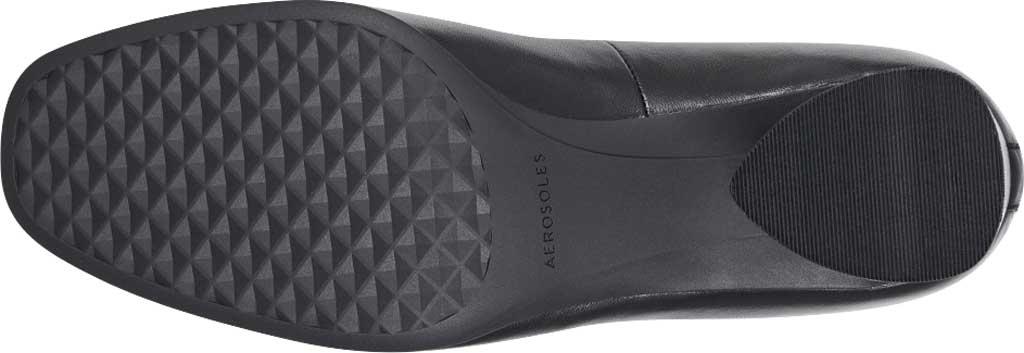 Women's Aerosoles Mariah Heeled Loafer, Black Leather, large, image 5