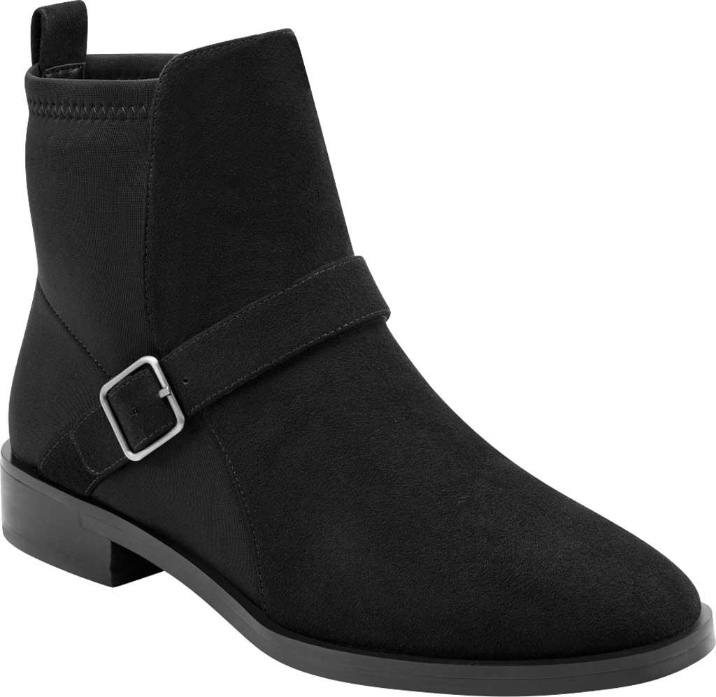 Women's Aerosoles Beata Ankle Boot, Black Faux Nubuck/Neoprene Fabric, large, image 1