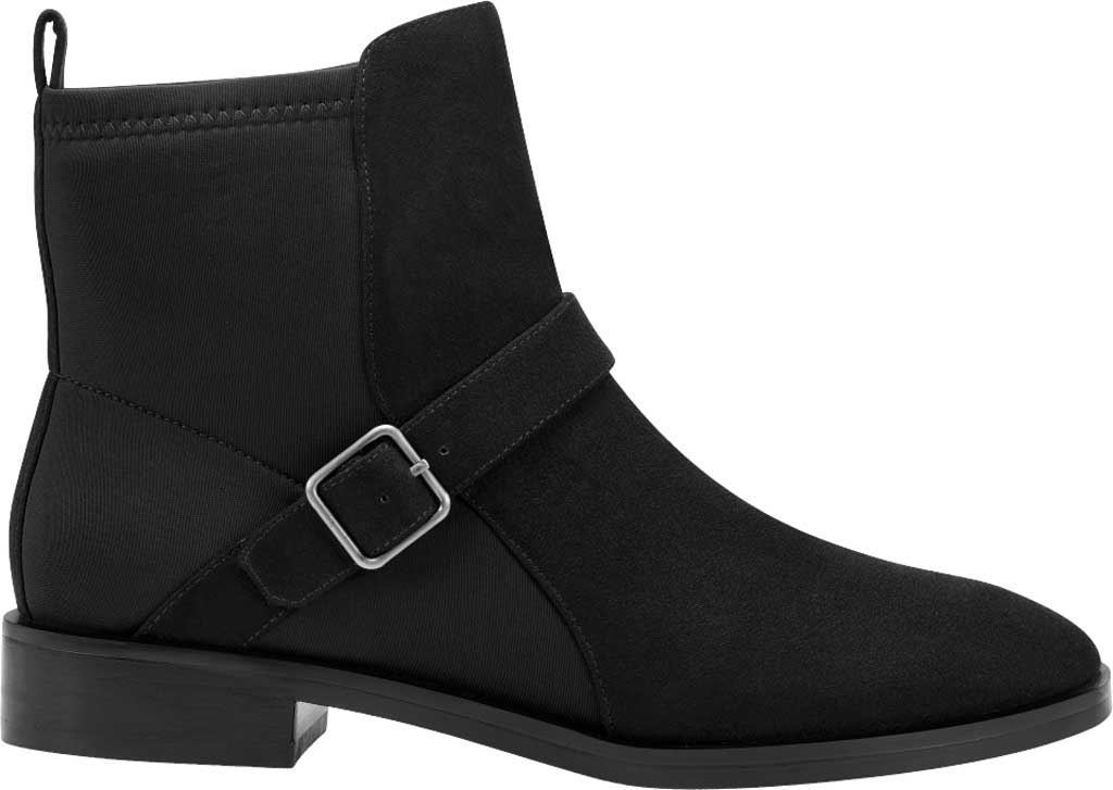 Women's Aerosoles Beata Ankle Boot, Black Faux Nubuck/Neoprene Fabric, large, image 2