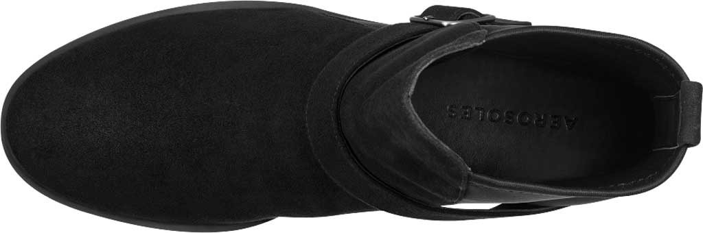 Women's Aerosoles Beata Ankle Boot, Black Faux Nubuck/Neoprene Fabric, large, image 4
