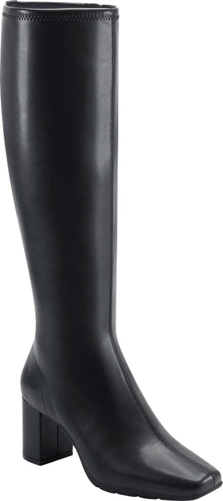 Women's Aerosoles Micah Knee High Boot, Black Stretch Faux Leather, large, image 1