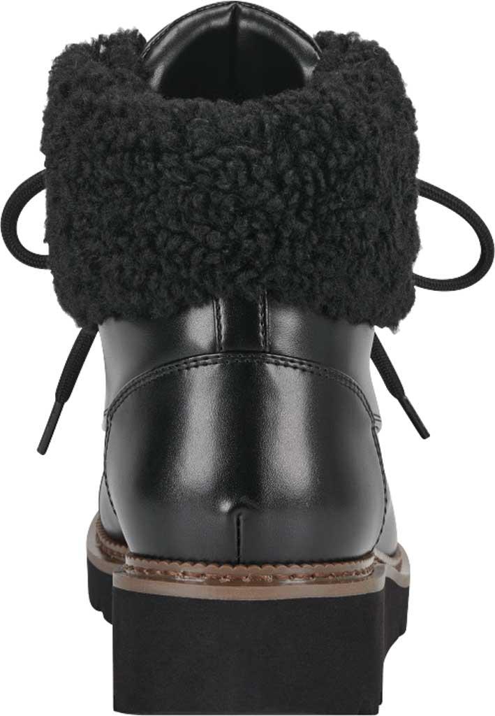 Women's Aerosoles Alden Wedge Hiker Bootie, Black Faux Leather/Faux Shearling, large, image 3