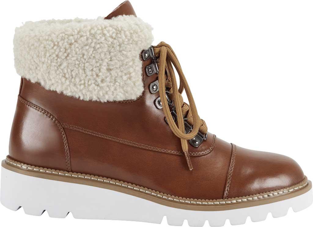 Women's Aerosoles Alden Wedge Hiker Bootie, Tan Faux Leather/Faux Shearling, large, image 2