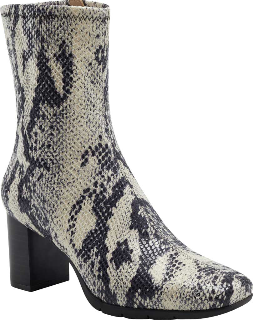 Women's Aerosoles Miley Square Toe Bootie, Roccia Snake Stretch Faux Leather, large, image 1