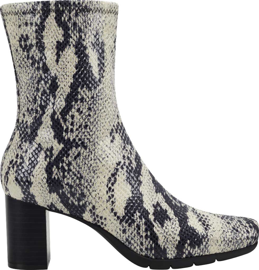 Women's Aerosoles Miley Square Toe Bootie, Roccia Snake Stretch Faux Leather, large, image 2