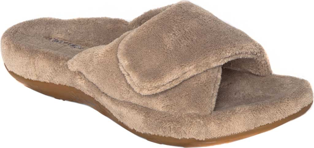 Women's Aetrex Shelby Slipper, Coffee Cotton, large, image 1