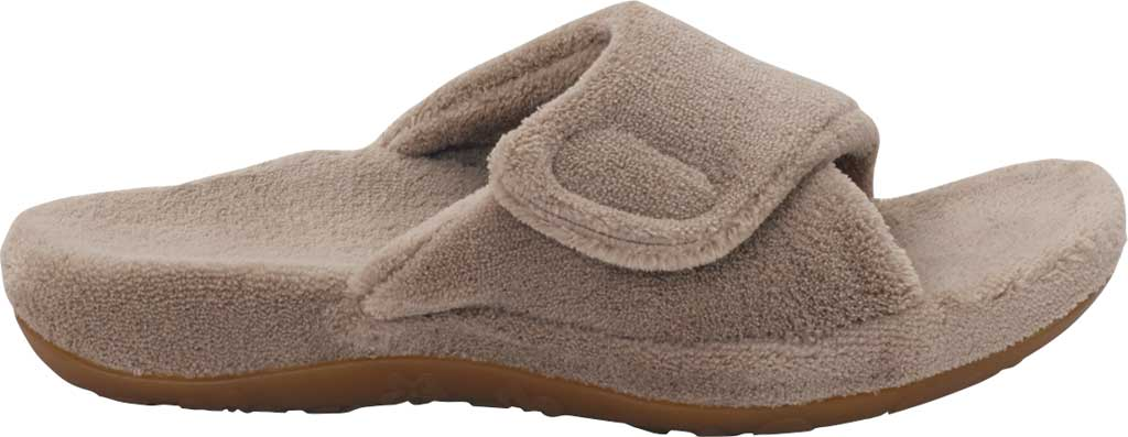 Women's Aetrex Shelby Slipper, Coffee Cotton, large, image 2
