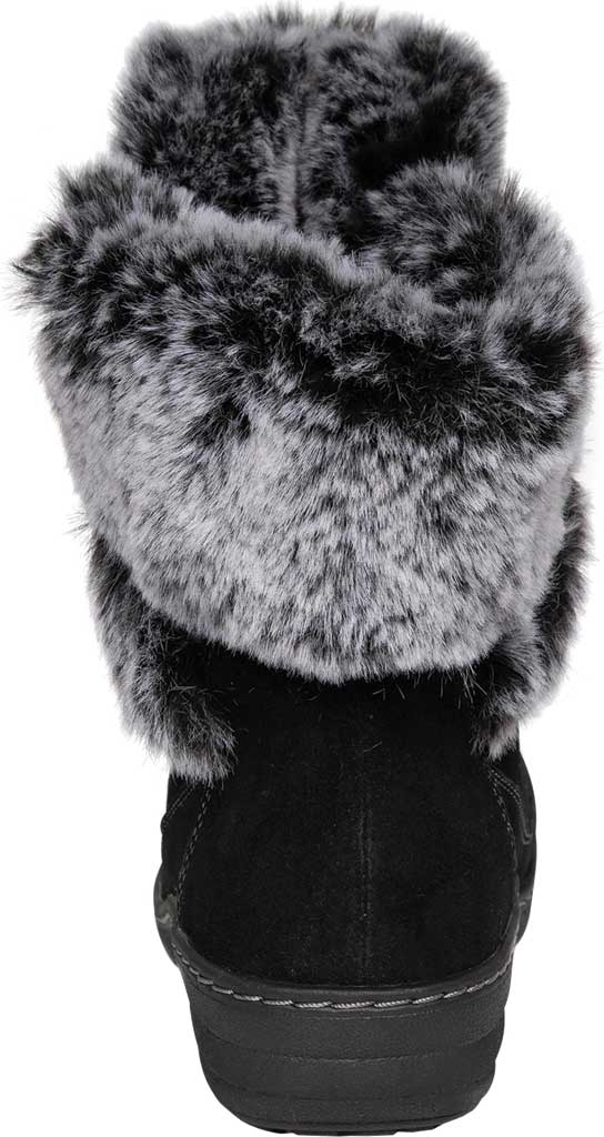 Women's Aetrex Fiona Ankle Boot, Black Suede/Faux Fur, large, image 4