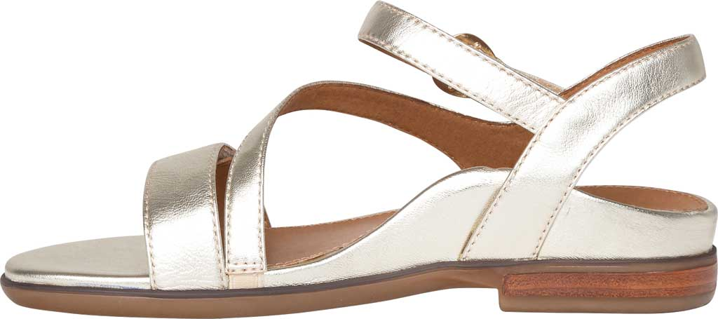 Women's Aetrex Tia Adjustable Strappy Sandal, Gold Leather, large, image 3