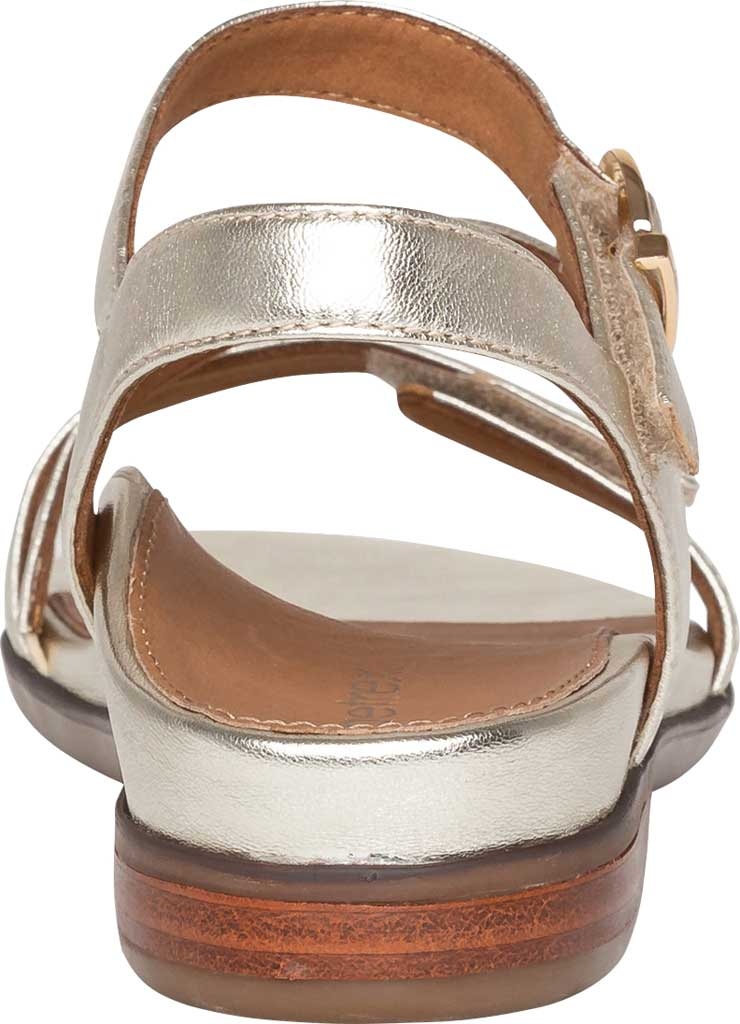 Women's Aetrex Tia Adjustable Strappy Sandal, Gold Leather, large, image 4