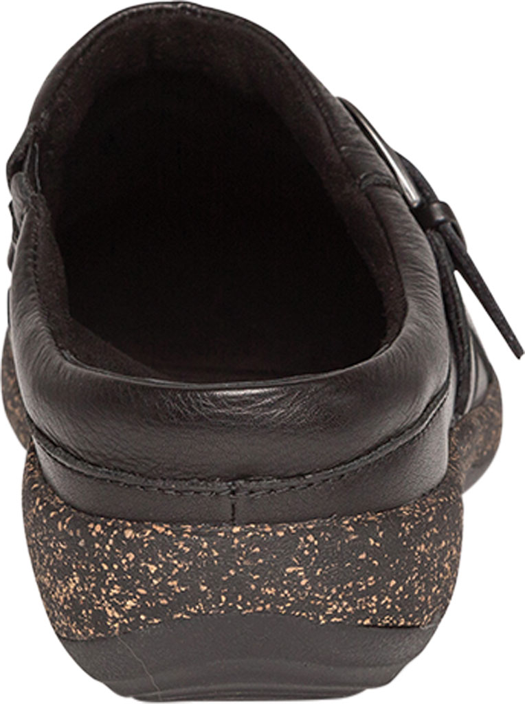 Women's Aetrex Libby Clog, Black Leather, large, image 4