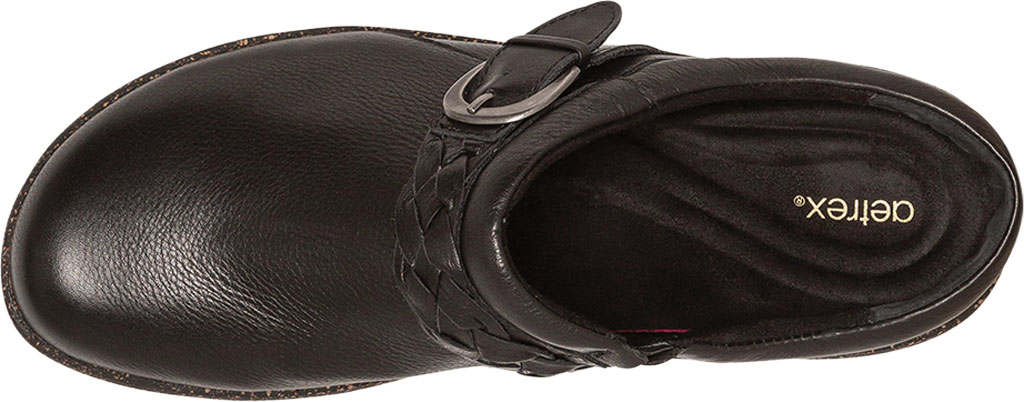 Women's Aetrex Libby Clog, Black Leather, large, image 5