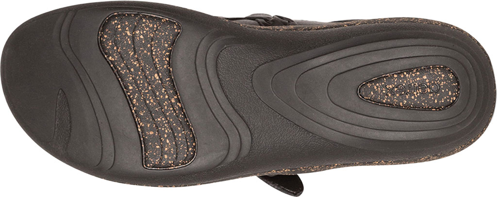 Women's Aetrex Libby Clog, Black Leather, large, image 6