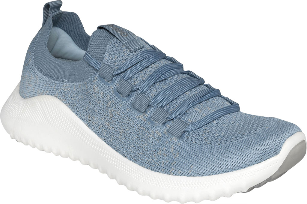 Women's Aetrex Carly Sneaker, Light Blue Synthetic, large, image 1