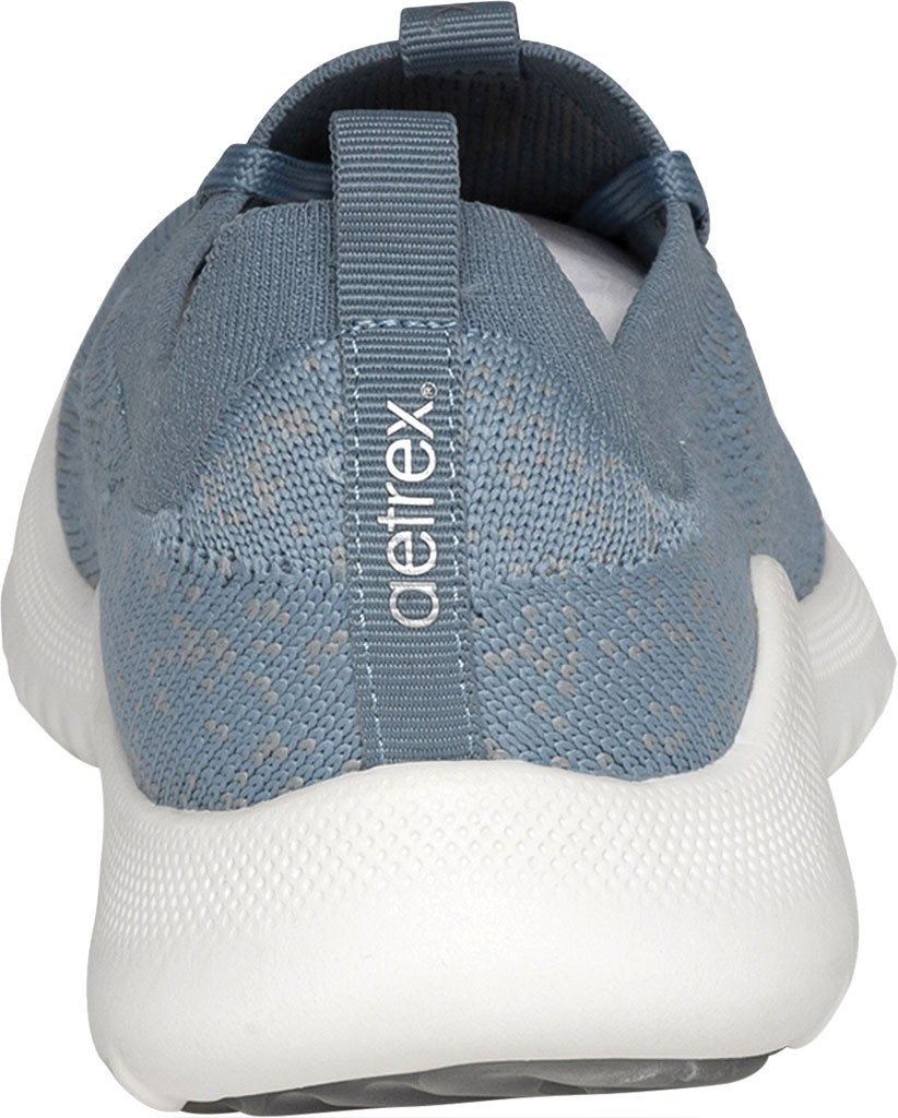 Women's Aetrex Carly Sneaker, Light Blue Synthetic, large, image 4