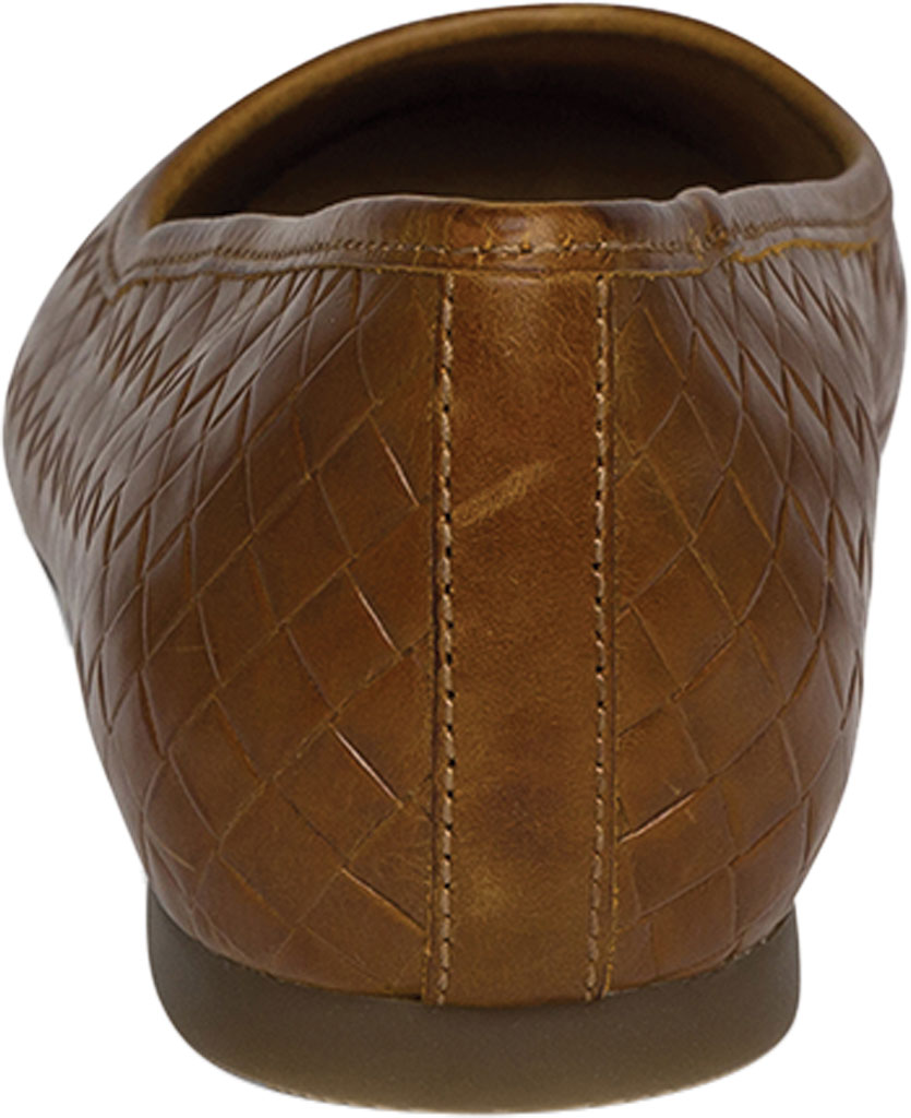 Women's Aetrex Lyla Woven Ballet Flat, Cognac Leather, large, image 4