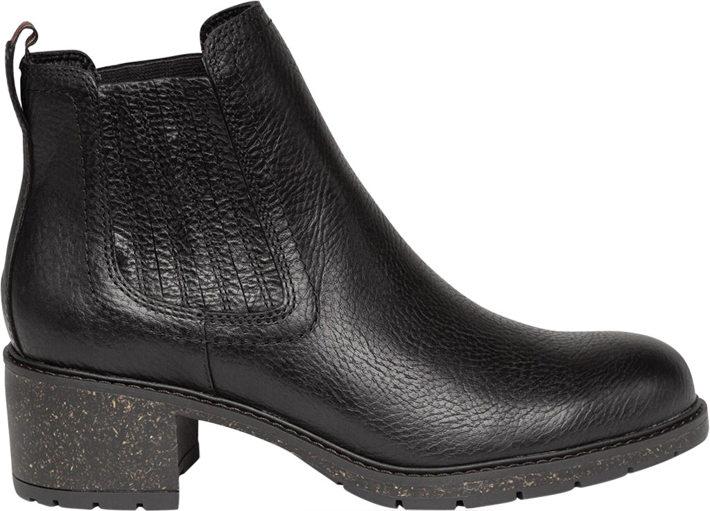Women's Aetrex Willow Chelsea Bootie, Black Leather/Fabric, large, image 2