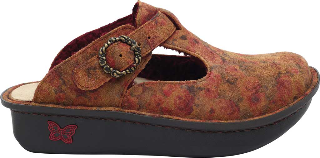Women's Alegria by PG Lite Classic Slip-on Clog, Cognac & Roses Shearling, large, image 2