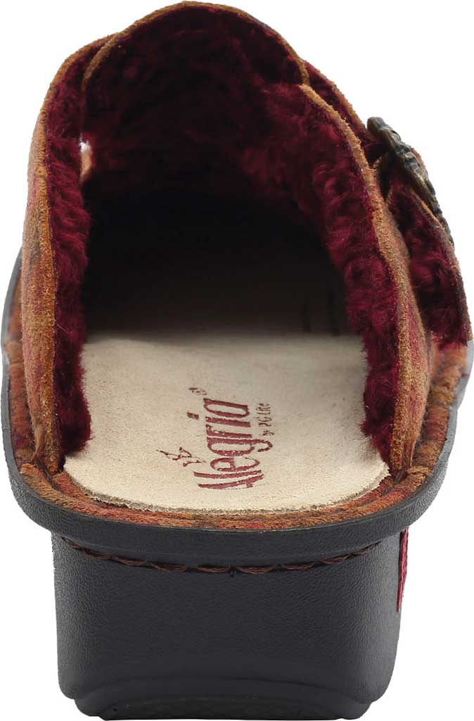 Women's Alegria by PG Lite Classic Slip-on Clog, Cognac & Roses Shearling, large, image 4