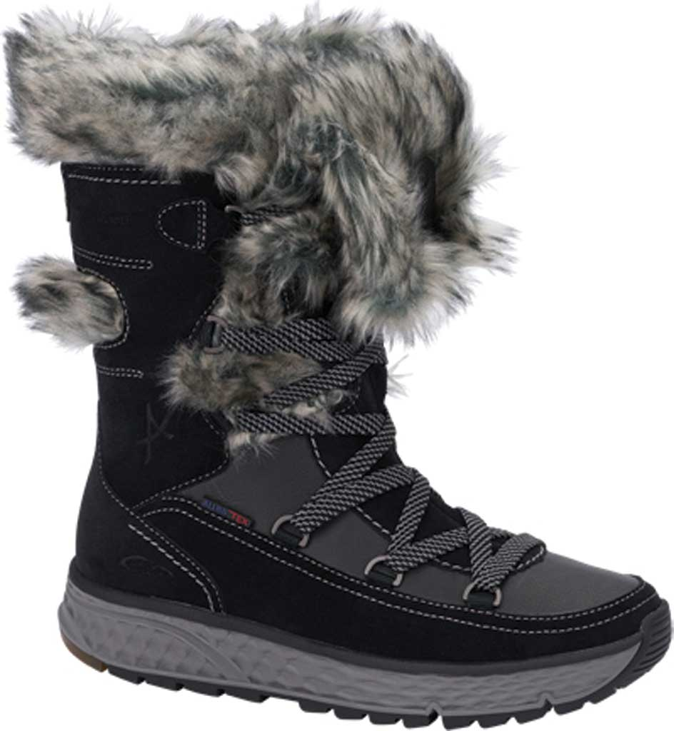 Women's Allrounder by Mephisto Outback Tex Boot, Black Suede/Fur, large, image 1