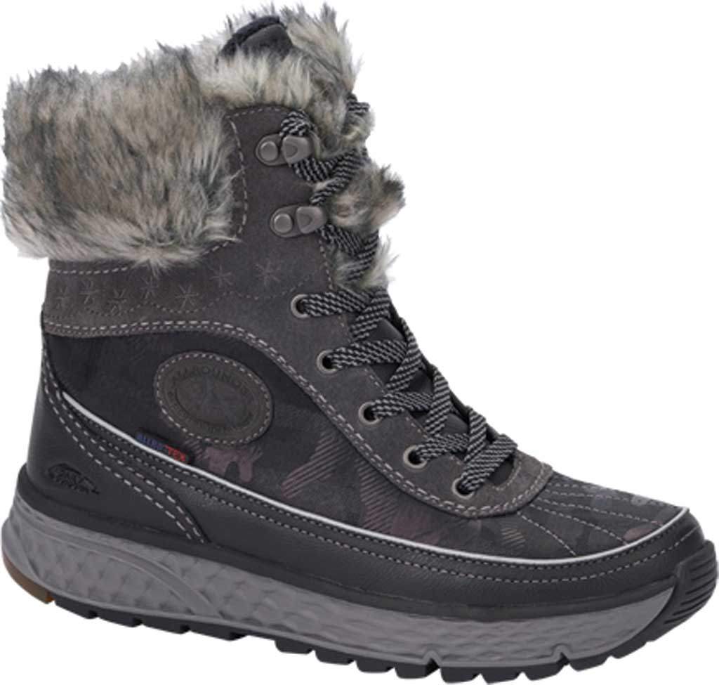 Women's Allrounder by Mephisto Orkano Tex Boot, Black Rubber/Periscope (Dark Grey) Suede, large, image 1