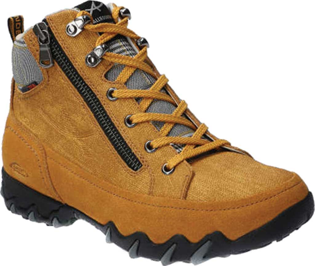 Women's Allrounder by Mephisto Neblina Tex Winter Boot, Curry Suede/Sunflower Textile, large, image 1