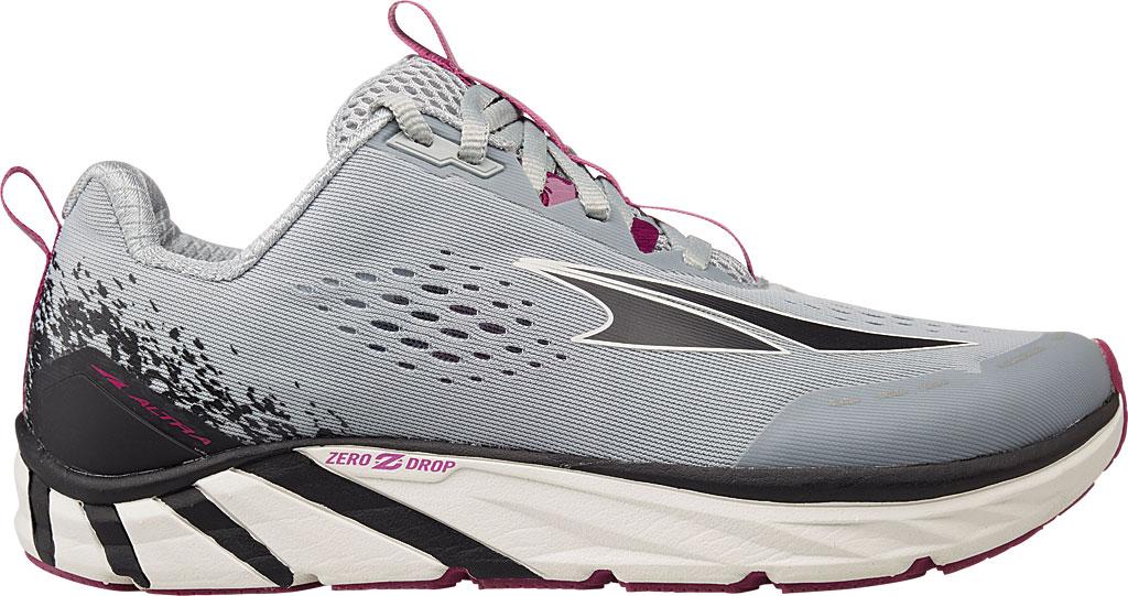 Women's Altra Footwear Torin 4 Running Shoe, Gray/Purple, large, image 1