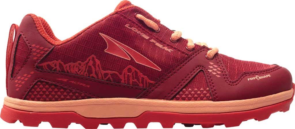 Children's Altra Footwear Youth Lone Peak Sneaker, Poppy, large, image 1