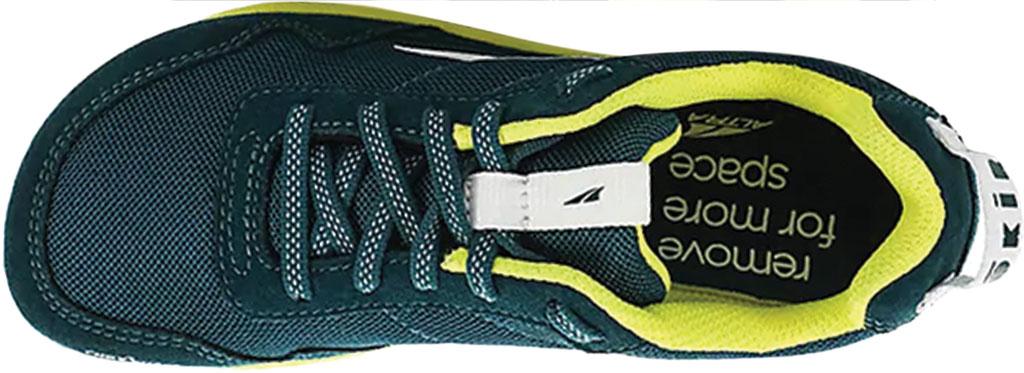 Children's Altra Footwear Kokiri Sneaker, Teal/Lime, large, image 3