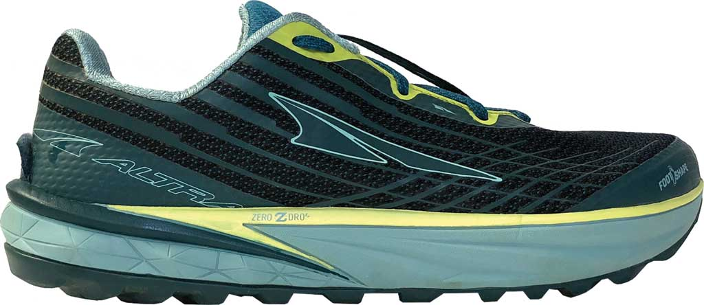 Women's Altra Footwear Timp 2 Trail Running Shoe, Teal/Lime, large, image 1