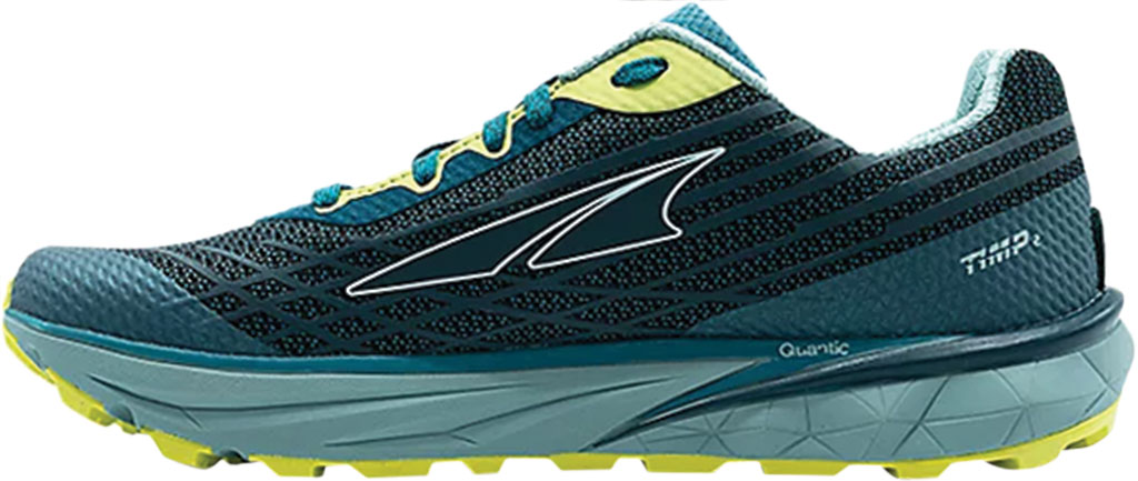 Women's Altra Footwear Timp 2 Trail Running Shoe, Teal/Lime, large, image 2