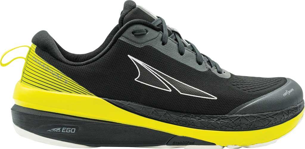 Men's Altra Footwear Paradigm 5 Running Sneaker, Black/Lime, large, image 1