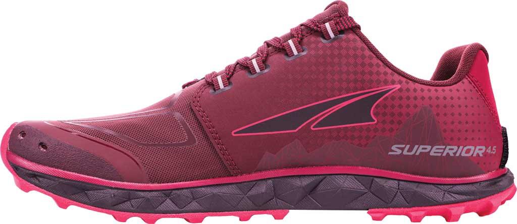 Women's Altra Footwear Superior 4.5 Trail Running Shoe, Black/Pink, large, image 2