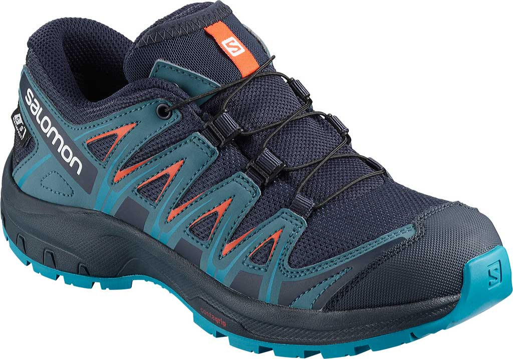 Children's Salomon XA PRO 3D ClimaSheild Waterproof Shoe, Navy Blazer/Mallard Blue/Hawaiian Surf, large, image 1