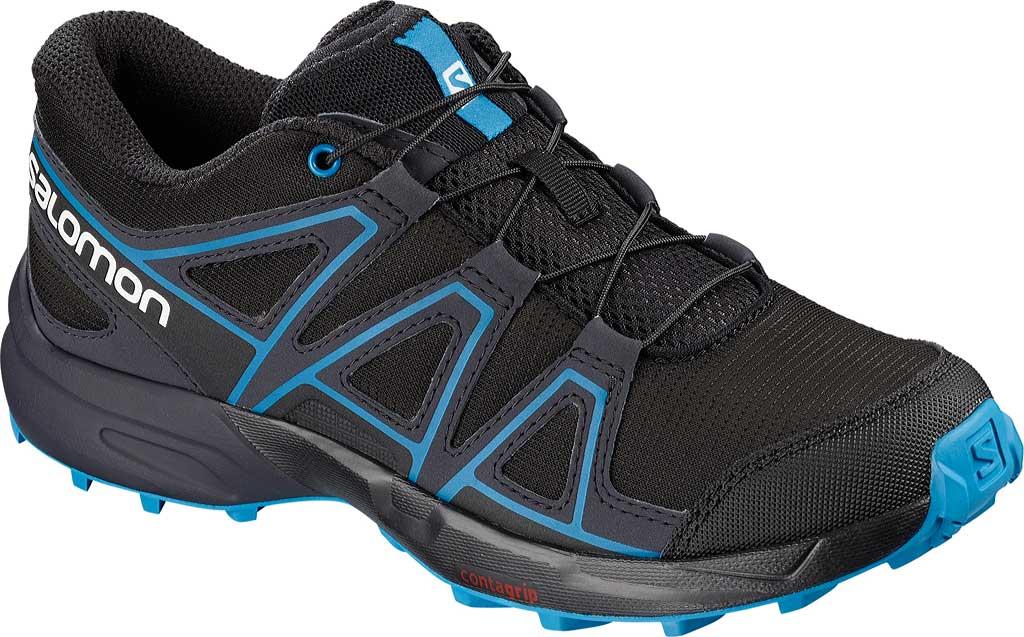 Children's Salomon Speedcross Trail Running Shoe, Black, large, image 1