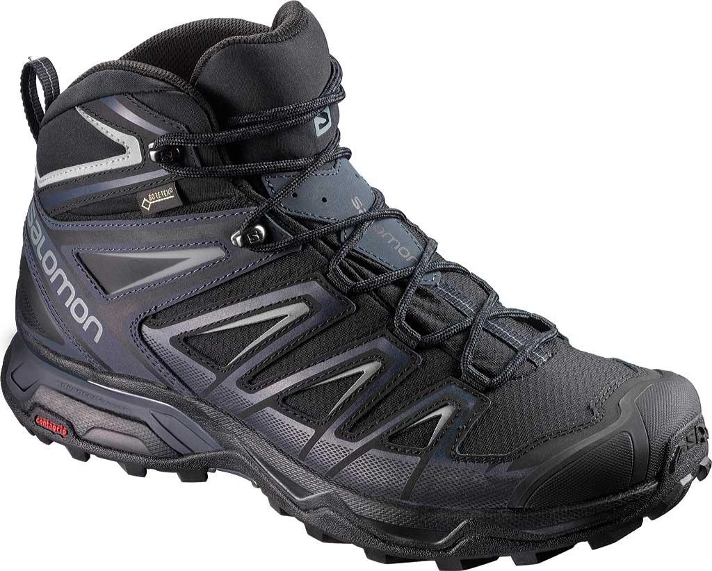 Men's Salomon X Ultra 3 Mid GOR-TEX Hiking Shoe, Black/India Ink, large, image 1