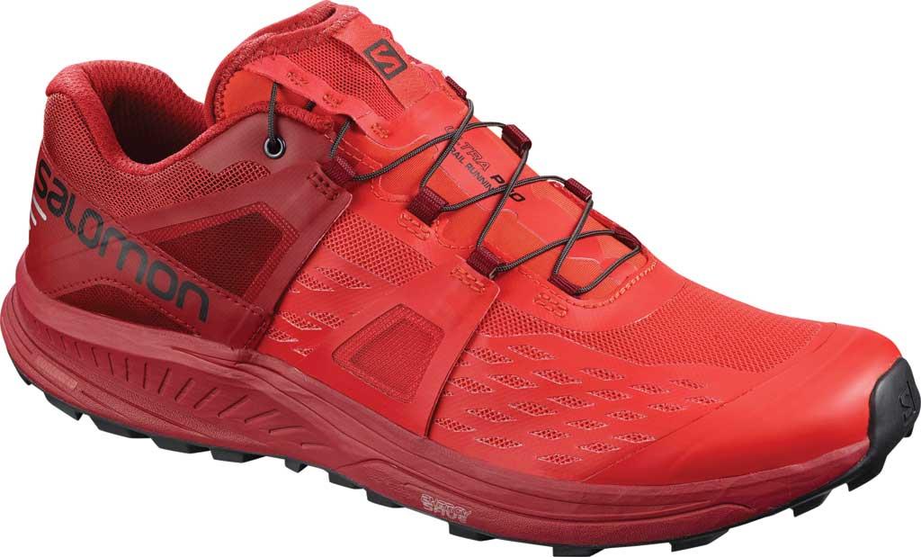 Men's Salomon Ultra Pro Running Sneaker, High Risk Red/Red Dahlia/Black Mesh, large, image 1
